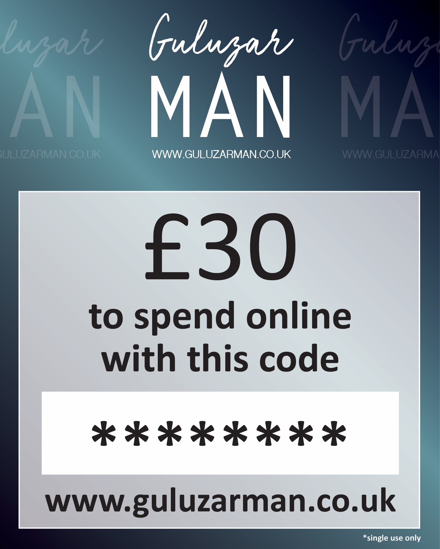 £30 Online Gift Card For Him