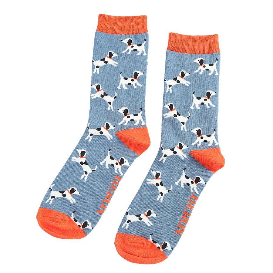 Men's Little Dalmatians Bamboo Socks - Blue