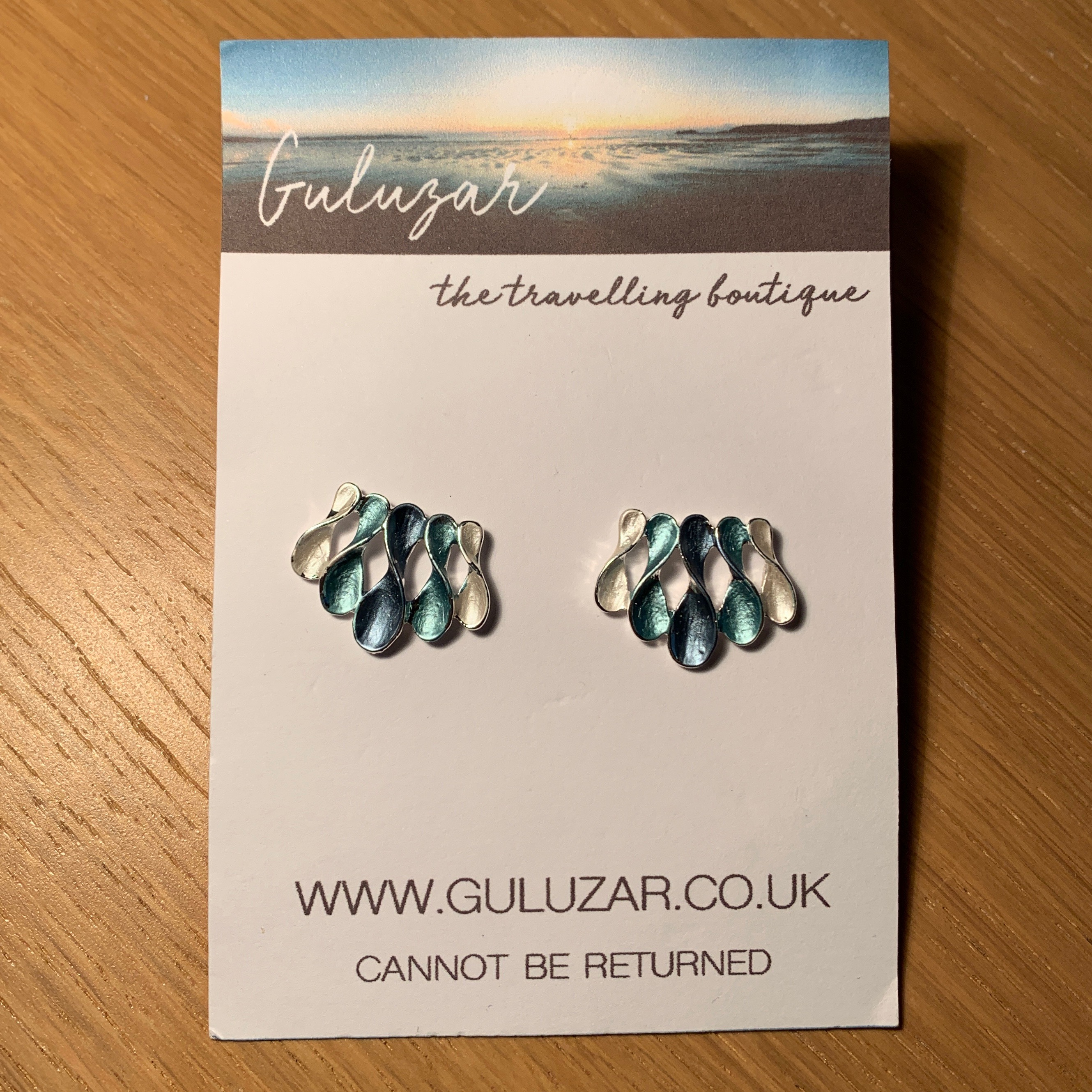 Wave Earrings - Blue