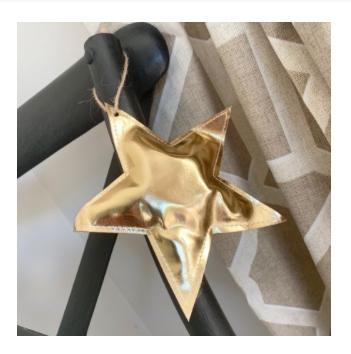 Gold Fabric Star Hanger