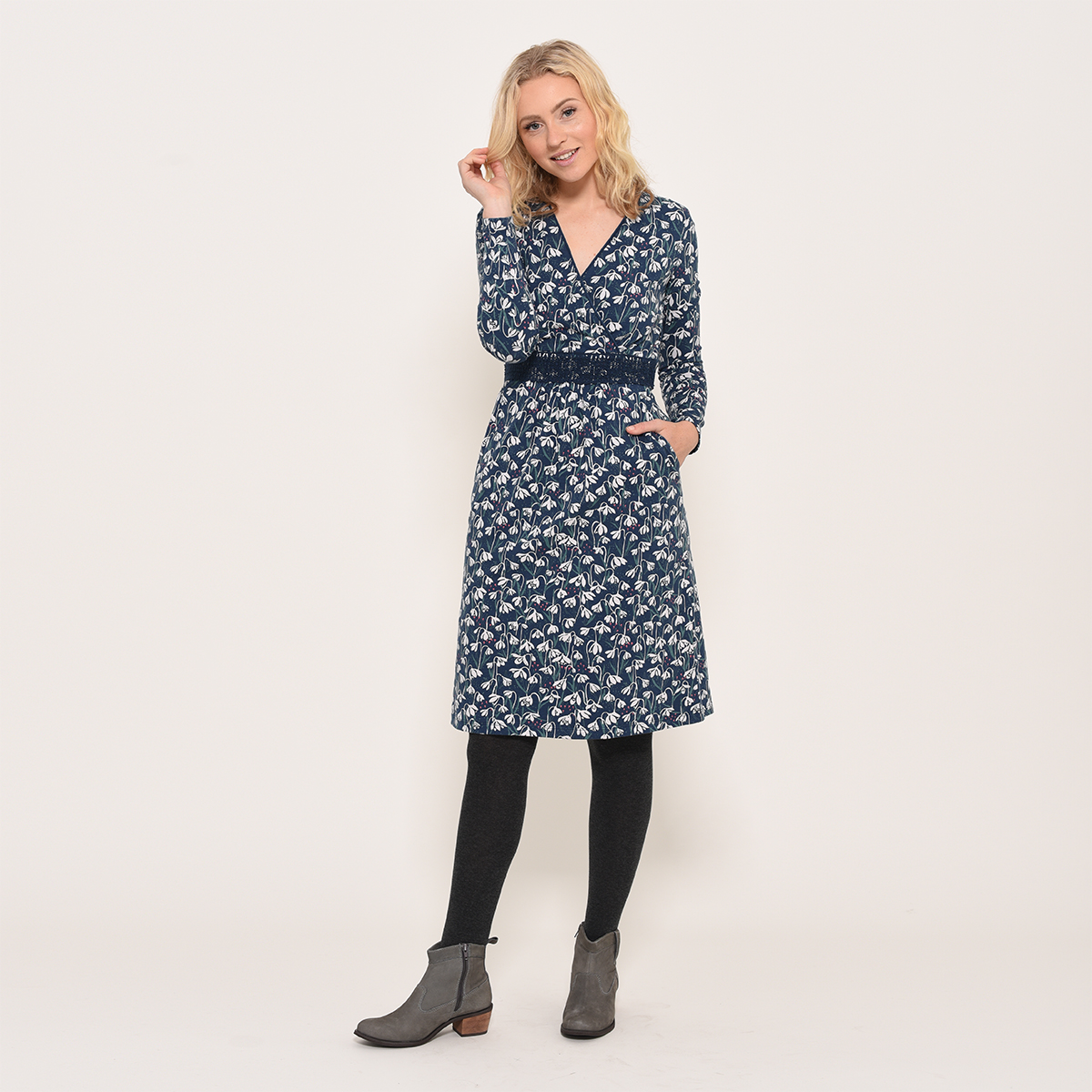 Brakeburn Snowdrop Wrap Dress - size 8 only left