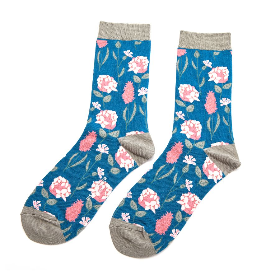Ladies Botany Bamboo Socks - Teal