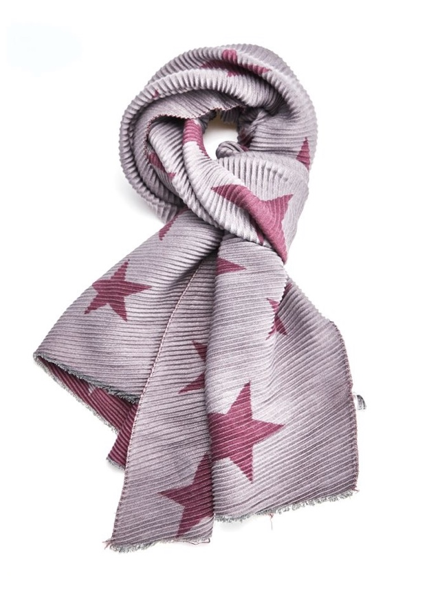 Pleated Blanket Scarf Stars - Various Colours