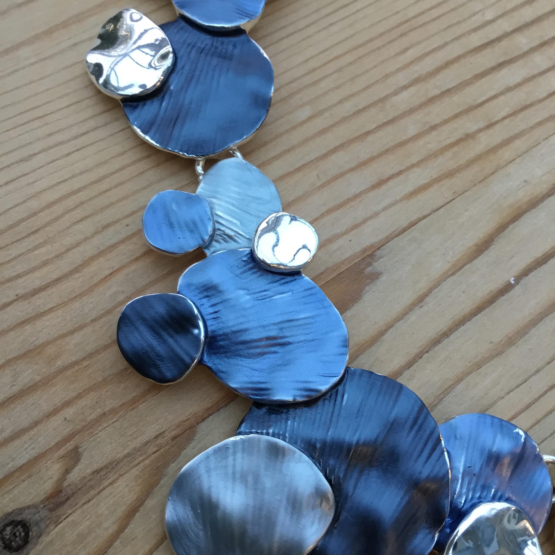 Disc Necklace  - Blue