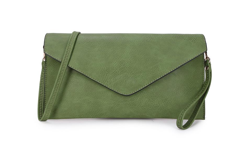 Envelope Clutch Bag - Green