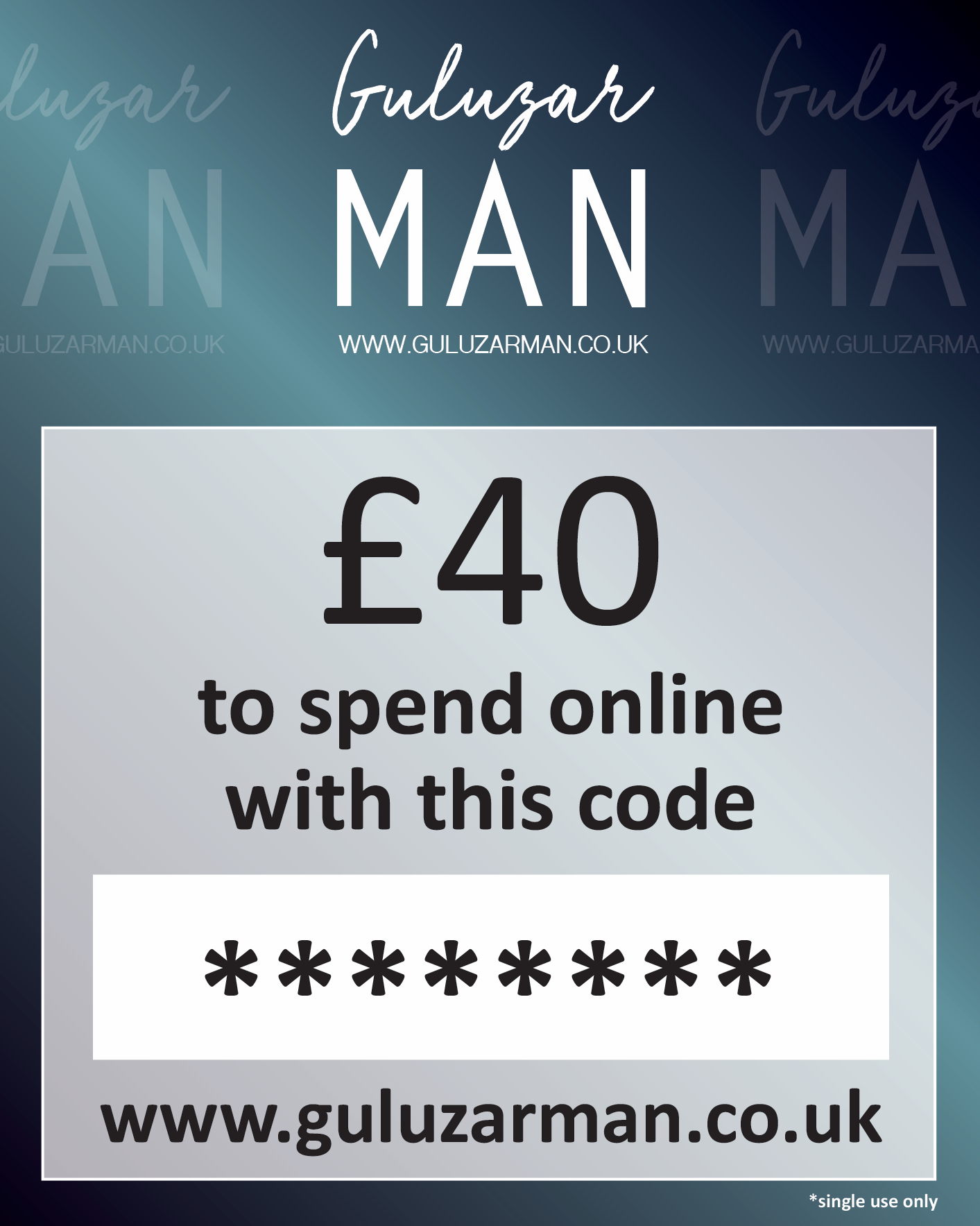£40 Online Gift Card For Him