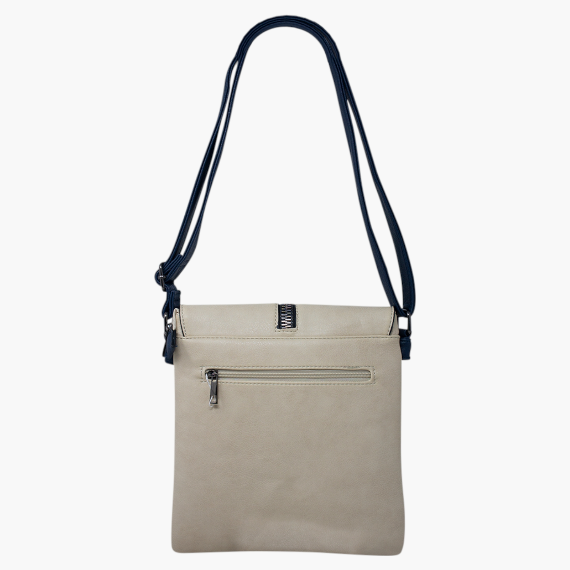 Cross Body Bag with Zip Detail - Various Colours