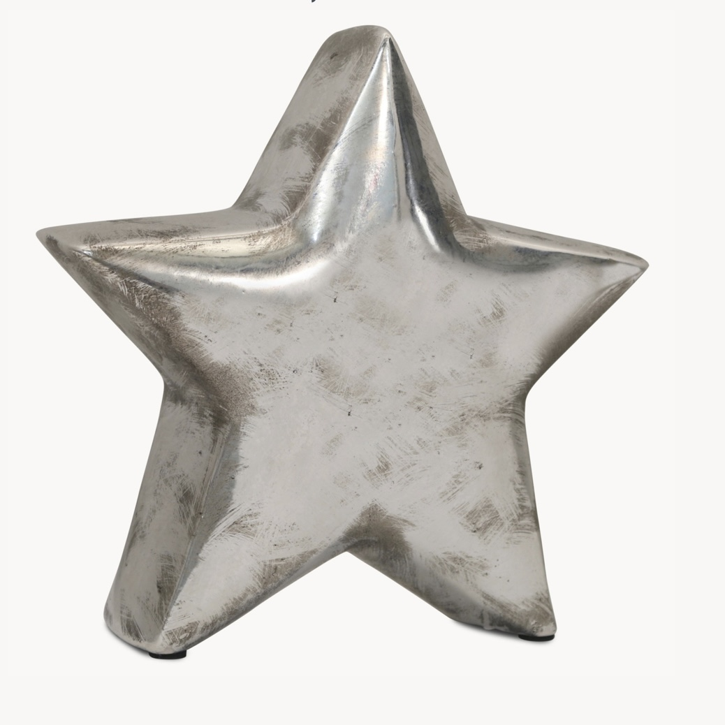 Chunky Decorative Star - Silver