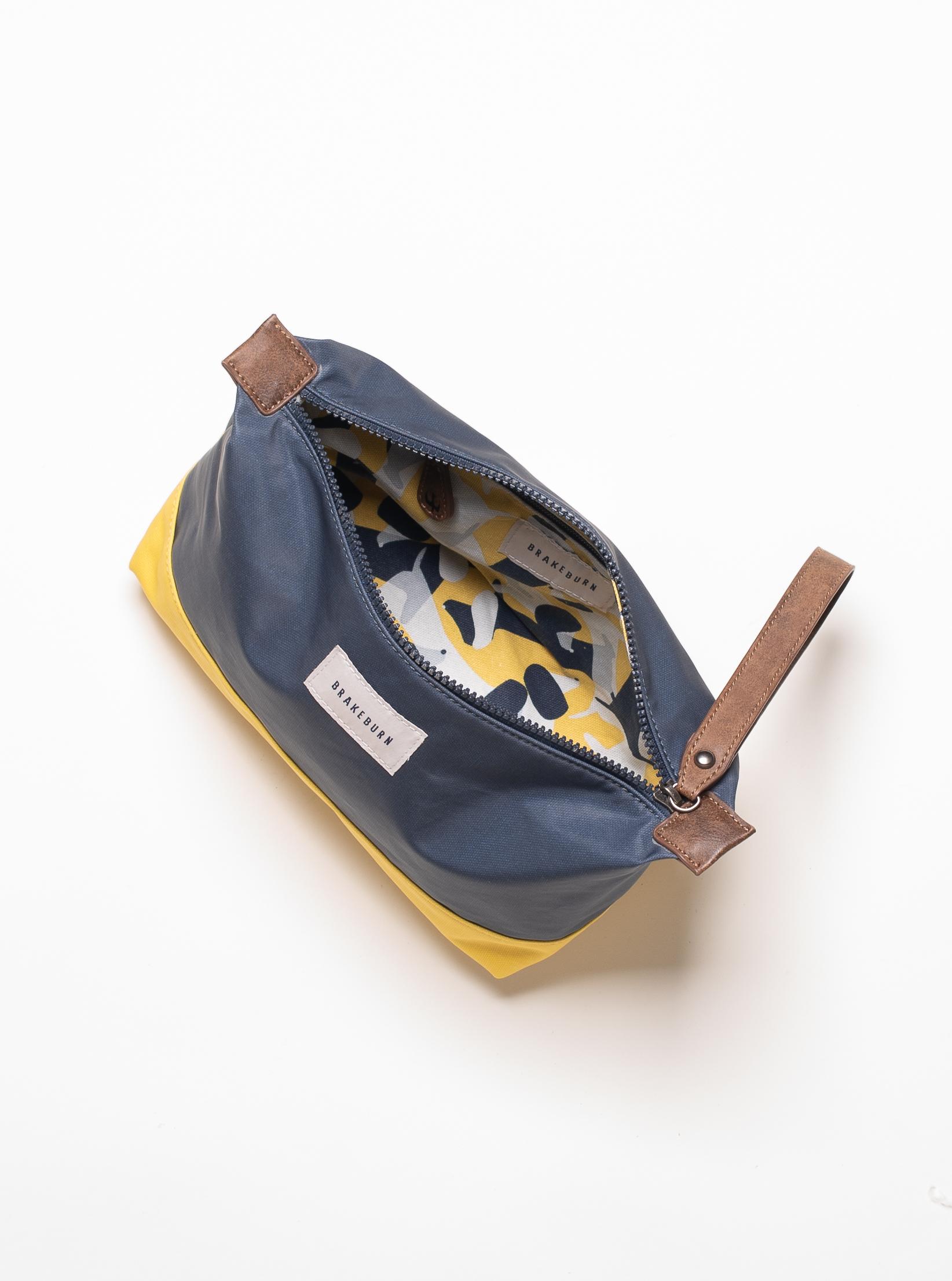 Brakeburn Large Navy Wash Bag