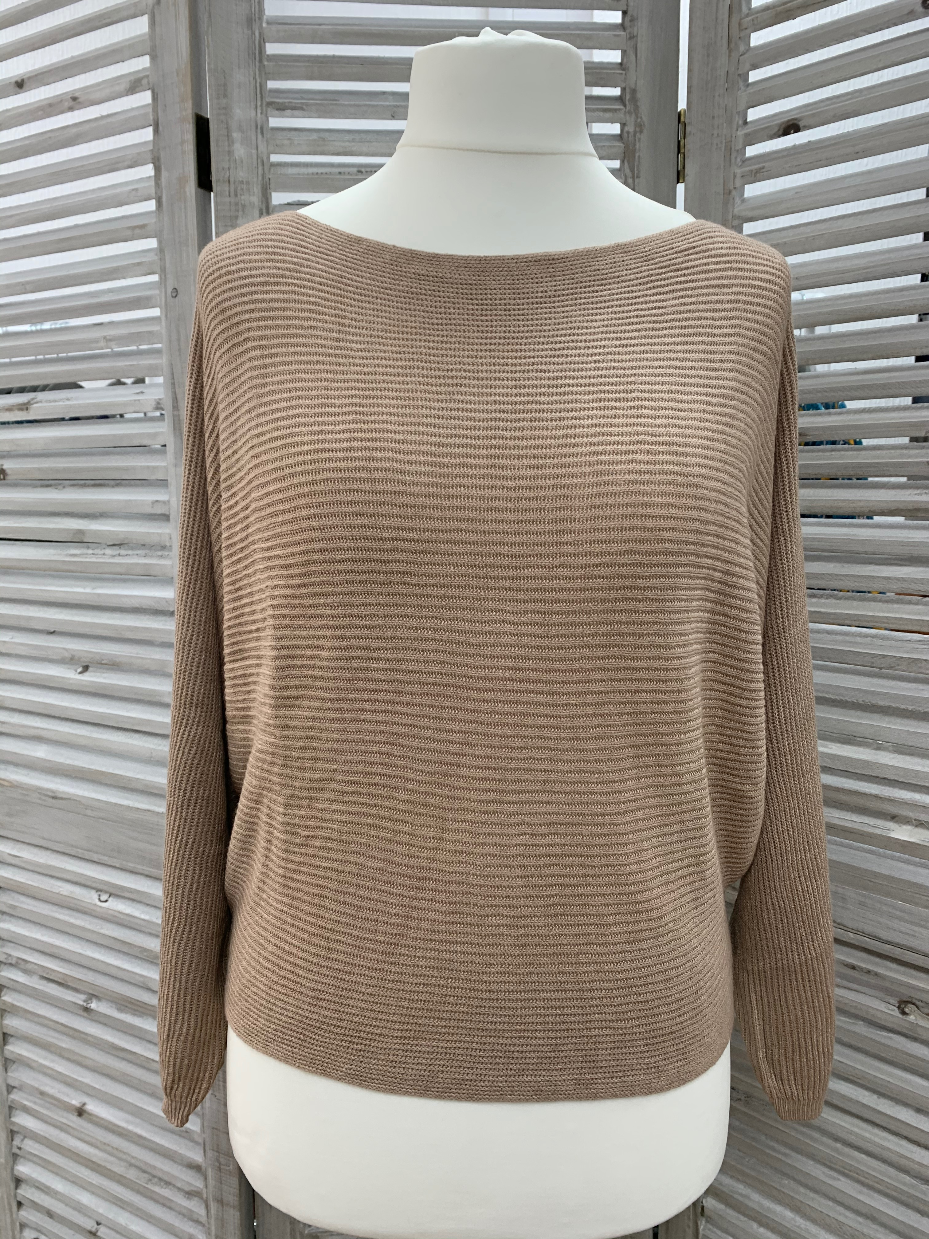 Fine Knit Batwing Sweater - Various Colours