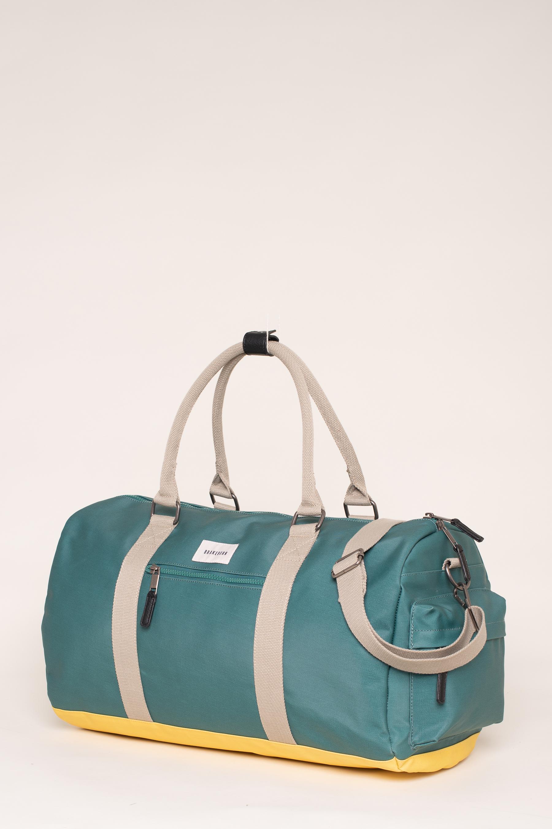 Brakeburn Green & Yellow Duffel Bag