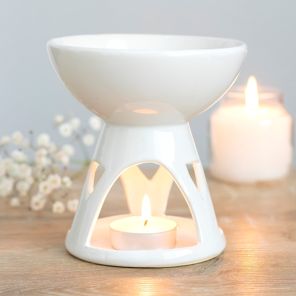 White Deep Bowl Burner