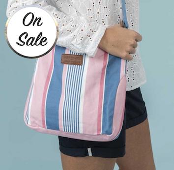 Lighthouse Lightweight Canvas Cross Body Handbag - Multi Stripe