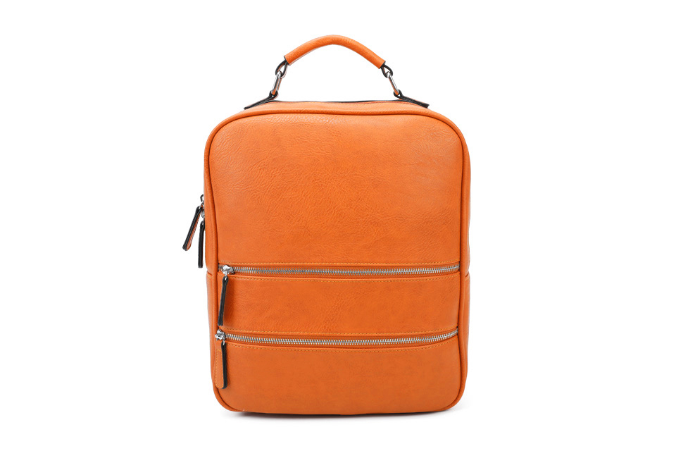 Multi Zip Back Pack - Orange