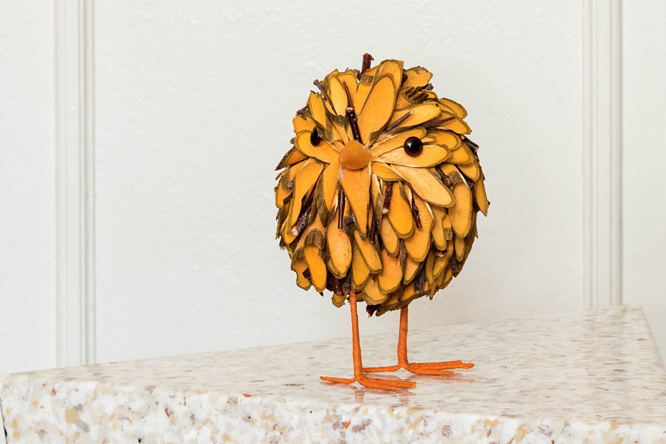 Orange Wooden Chick (15 cm)