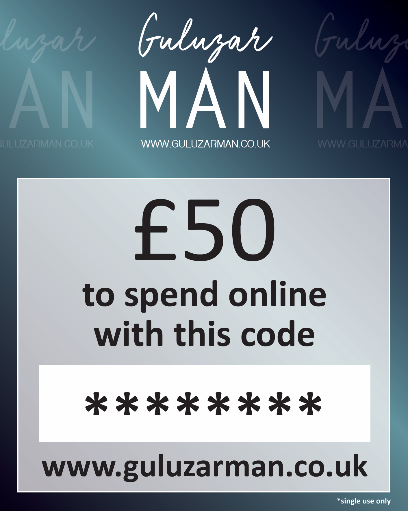 £50 Online Gift Card For Him