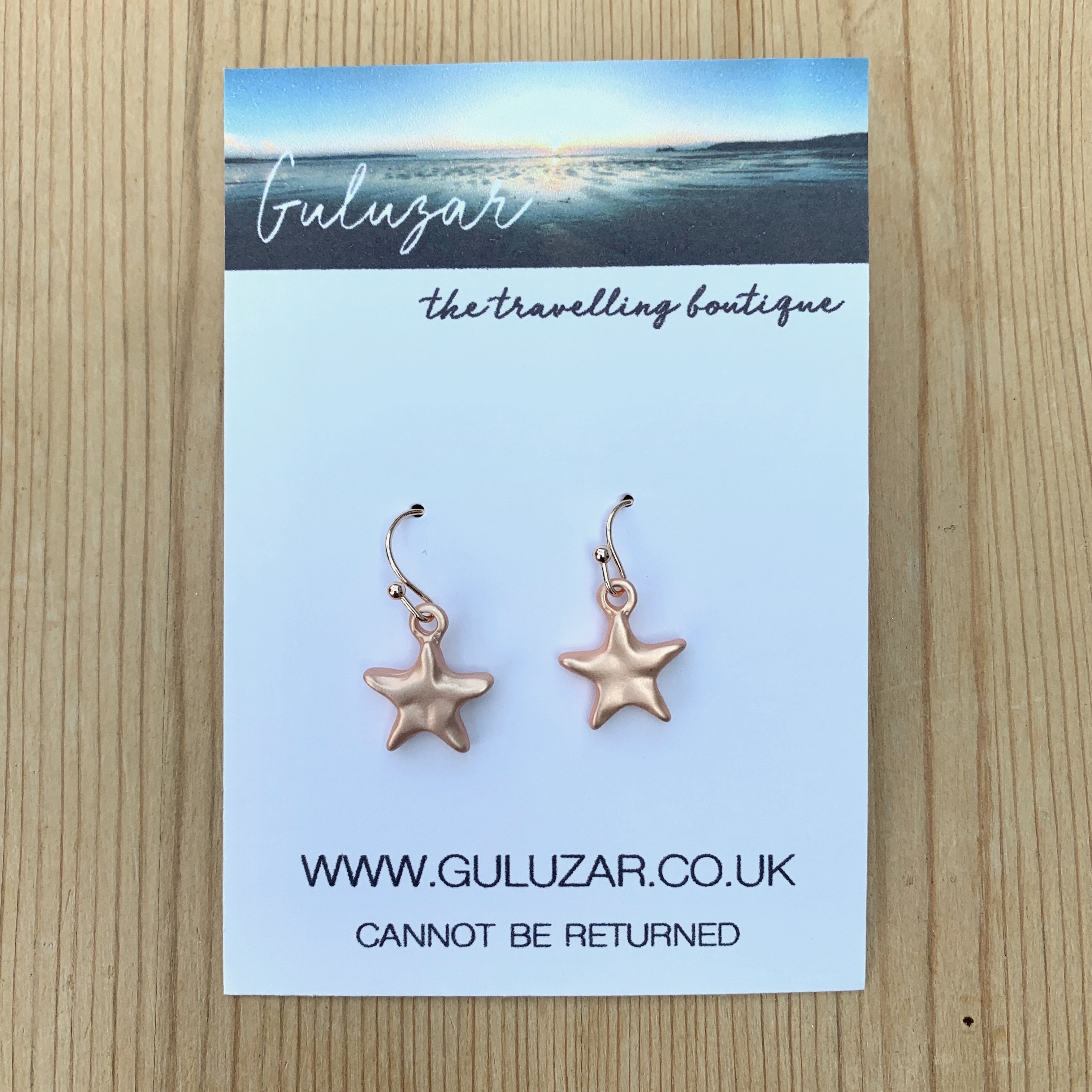 Starfish Matte Earrings - Rose Gold