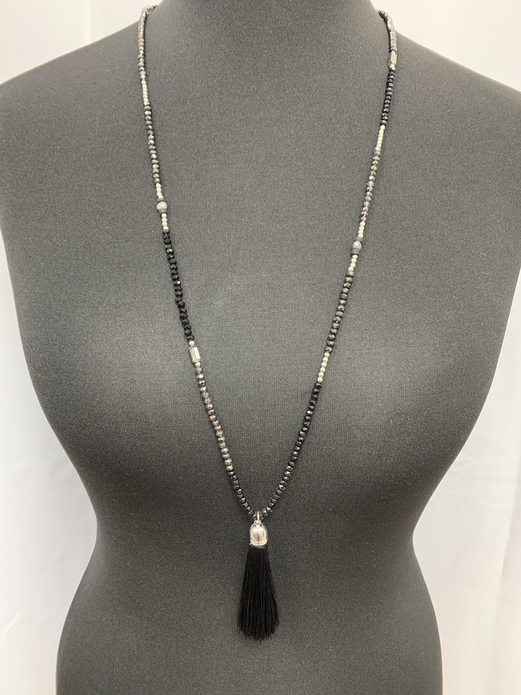 Beaded Tassel Necklace - Various