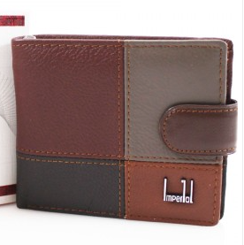 Men's Leather Patchwork Wallet - Various Mixed colour