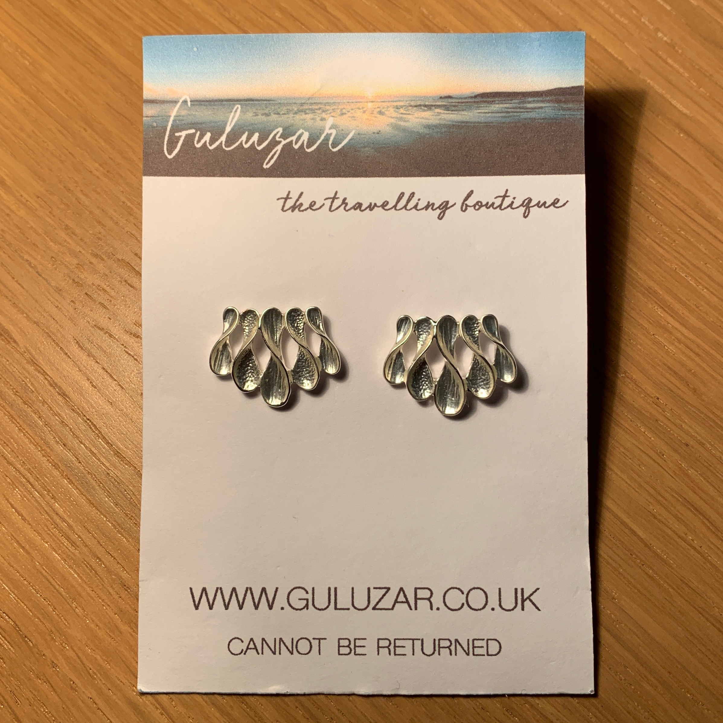 Wave Earrings - Silver