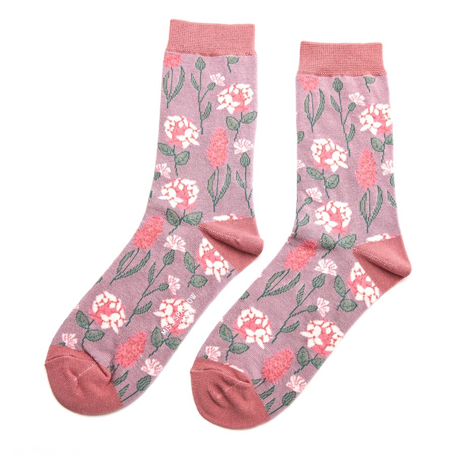 Ladies Botany Bamboo Socks - Lilac