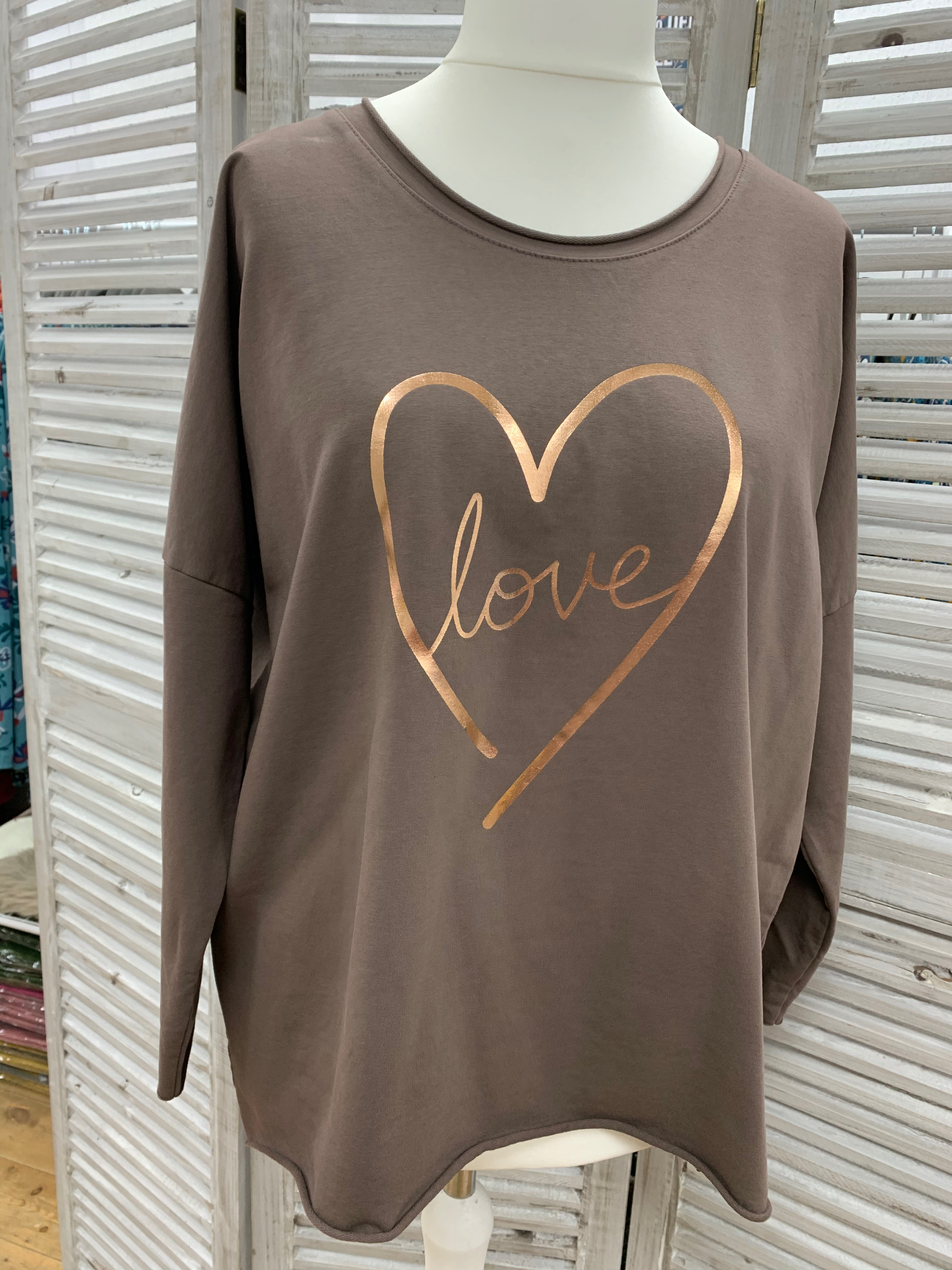 Love Heart Sweater - Various Colours