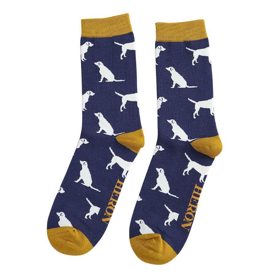Men's Labrador Bamboo Socks - Navy