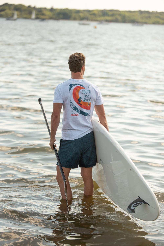 Brakeburn Surf Poster T-Shirt - White