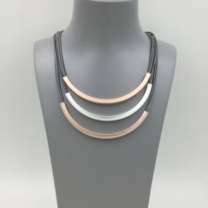 3 Tier Magnetic Rose Gold Mix Necklace