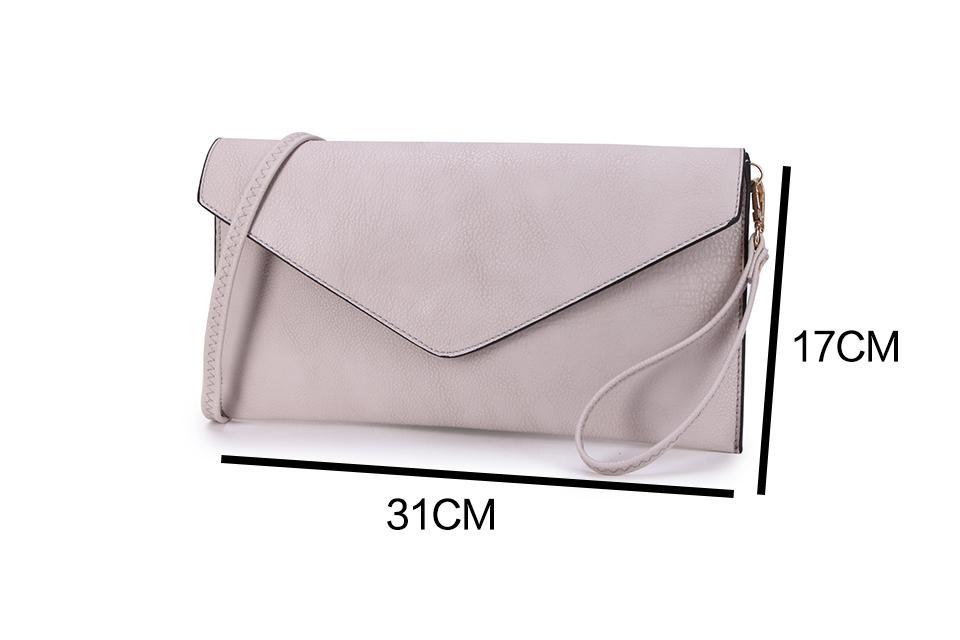 Envelope Clutch Bag - Metallic Wine