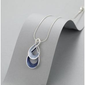 Blue Swirl Necklace & Earrings Set
