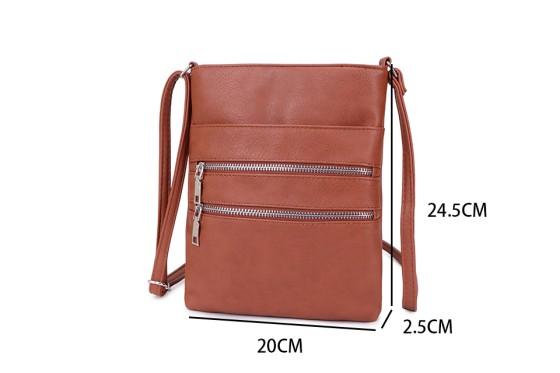 Multi Pocket Cross Body Handbag - Various Colours