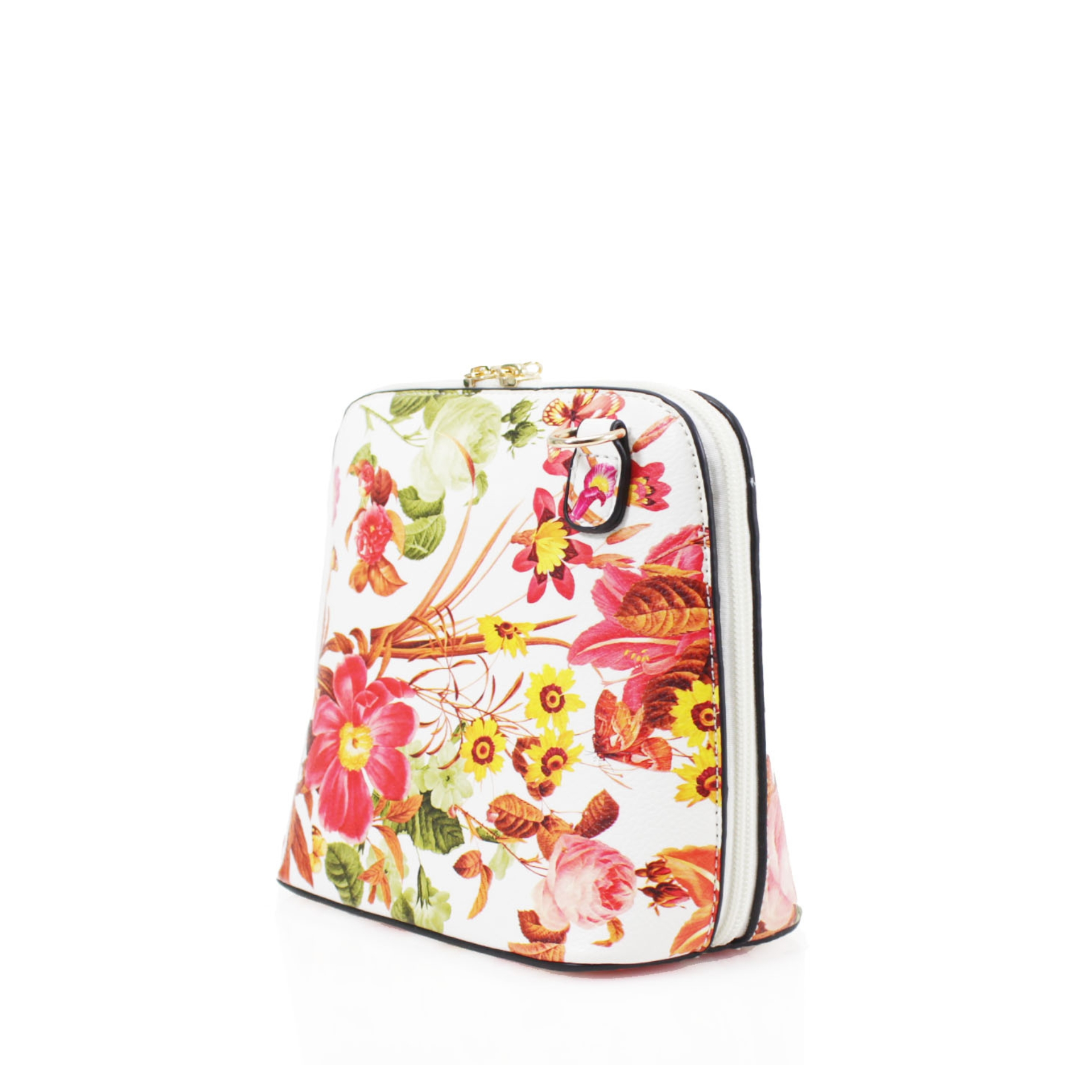 Floral Oyster Cross Body Handbag - Various Colours