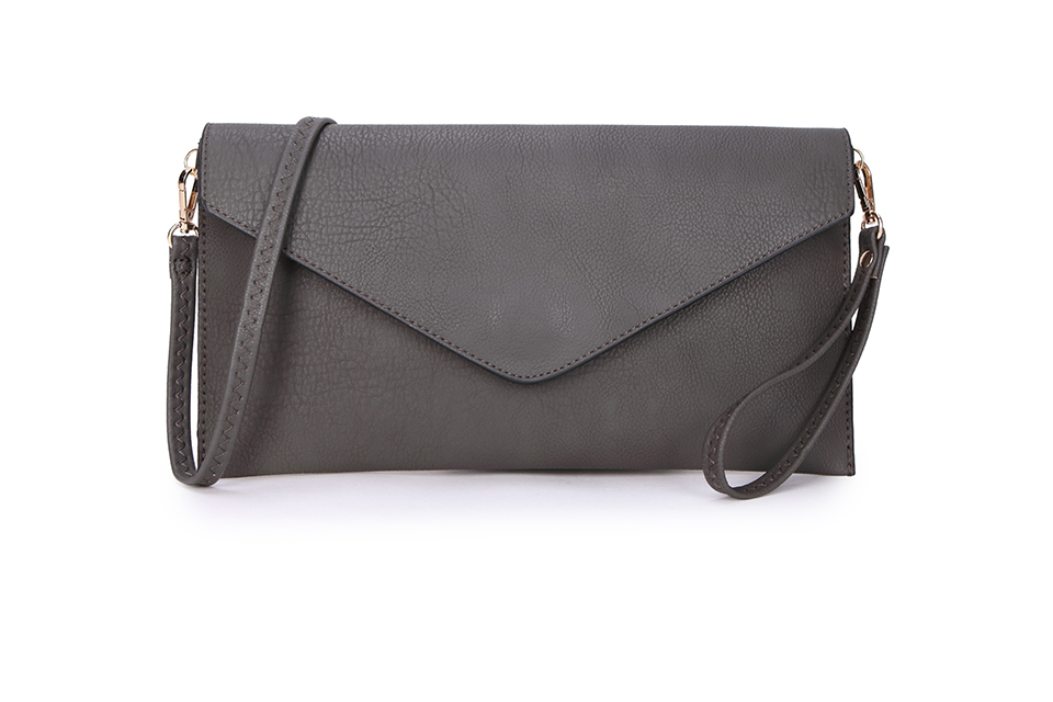 Envelope Clutch Bag - Dark Grey
