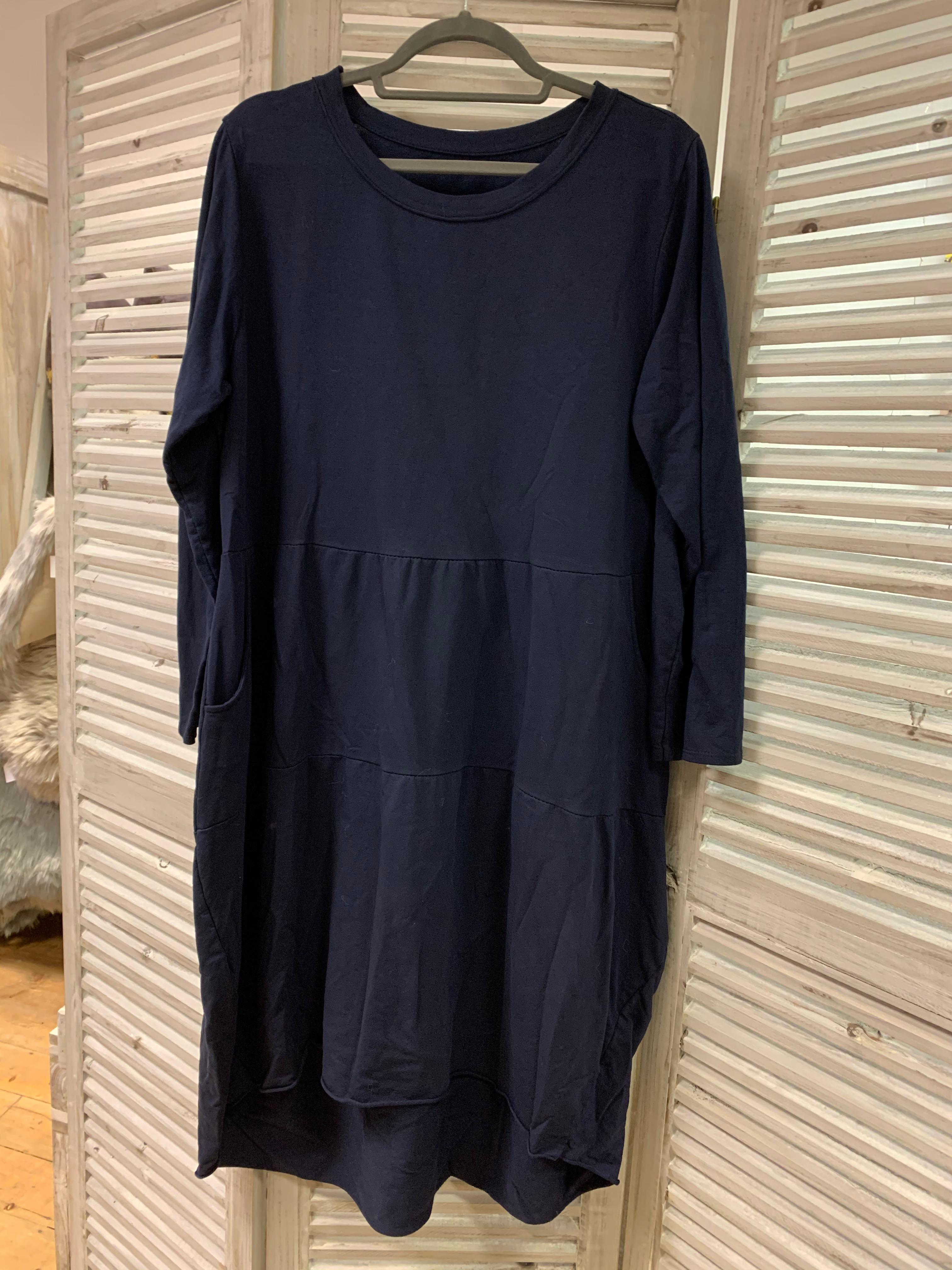 Plain Dip Hem Tier Dress - Various Colours