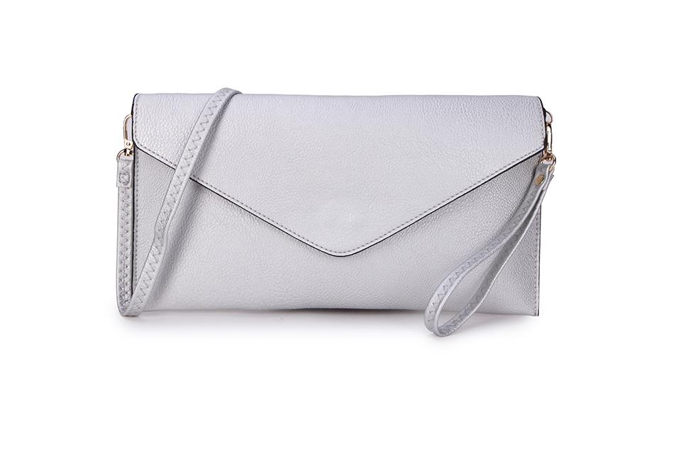 Envelope Clutch Bag - Silver