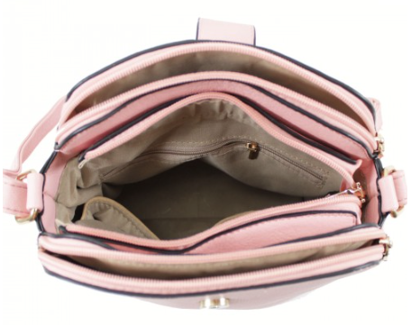 3 Section Cross Body Bag - Various Colours