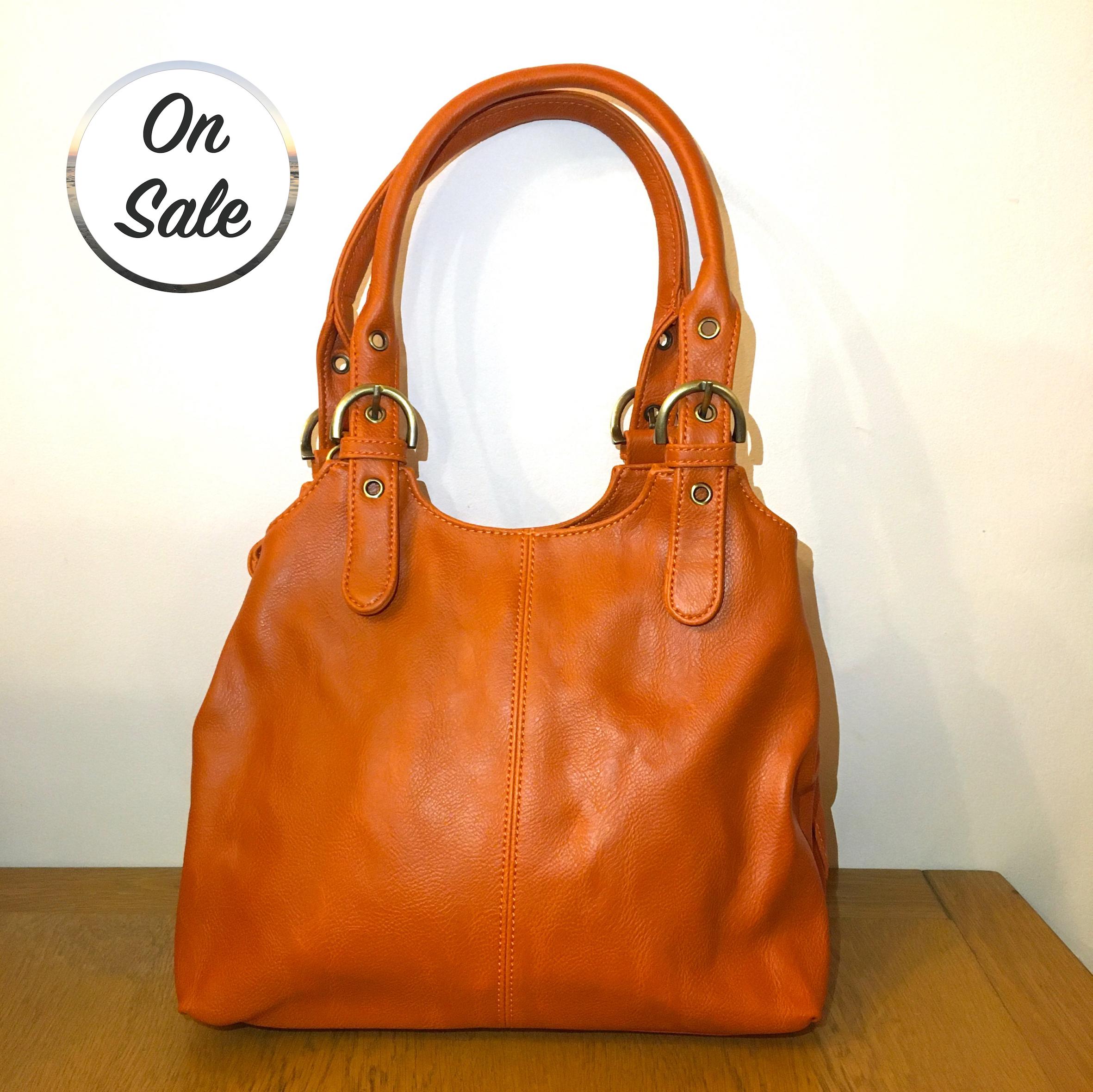 3 Section Buckle Bag - Orange