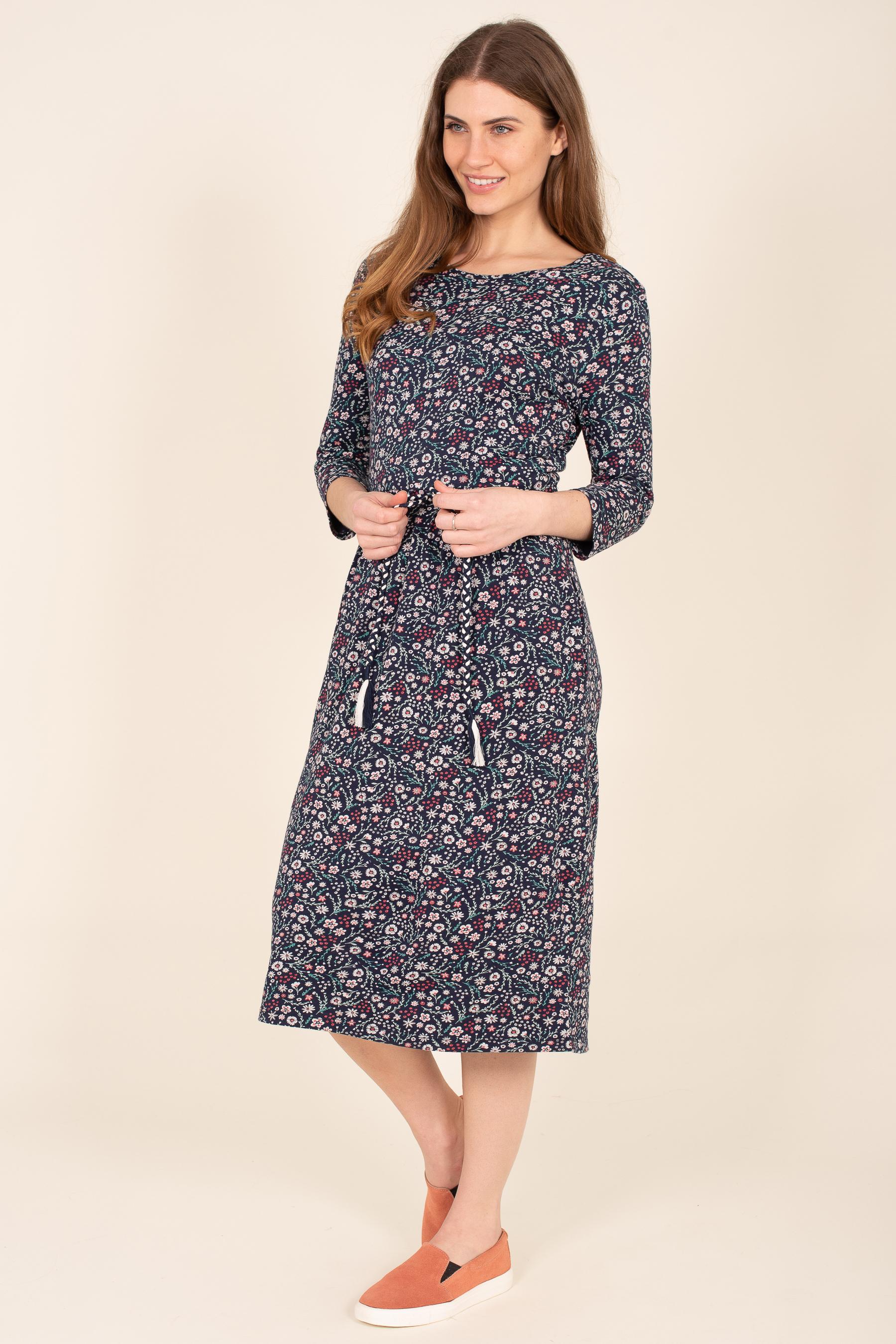 Brakeburn Ditsy Tie Waist Dress