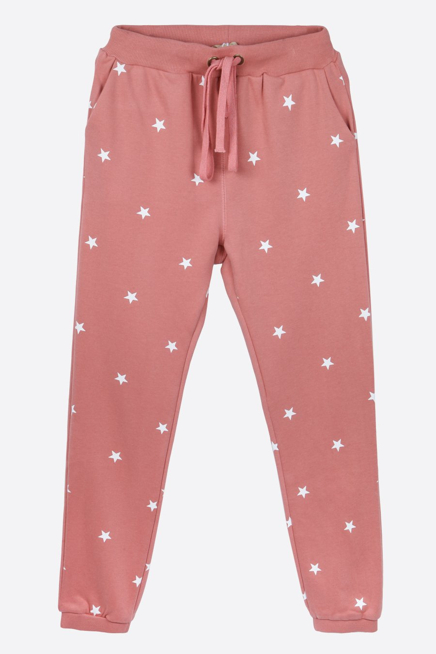 All Over Star Jogger Trousers - Dusky Pink
