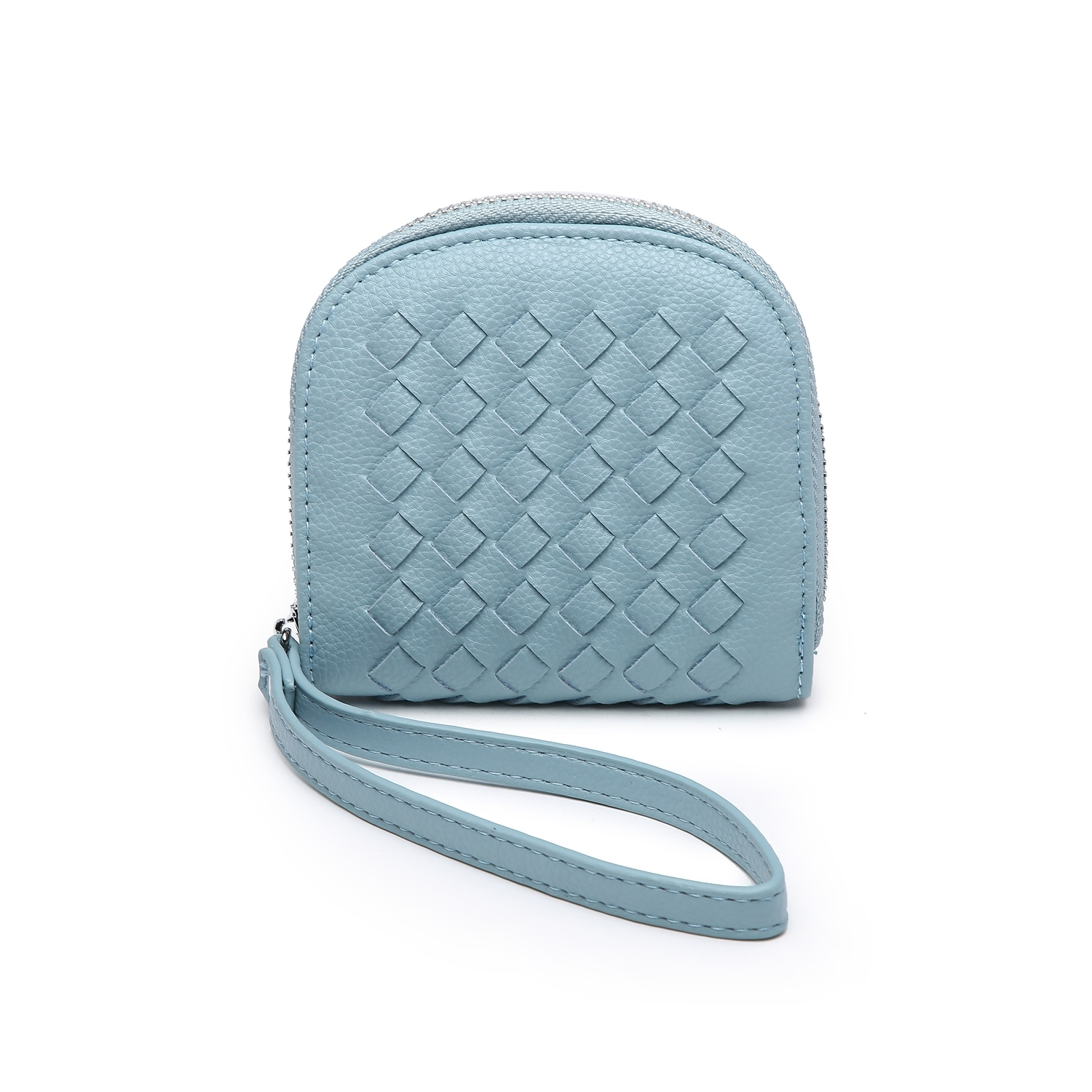 Mini Quilted Clutch Purse - Duck Egg