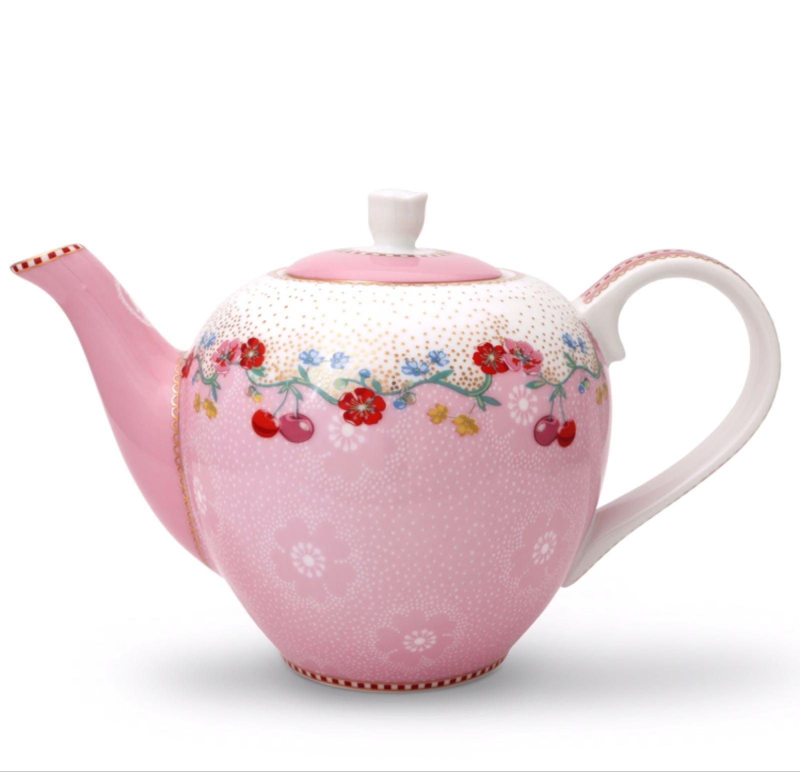 Pip studio small cherry pink teapot 750
