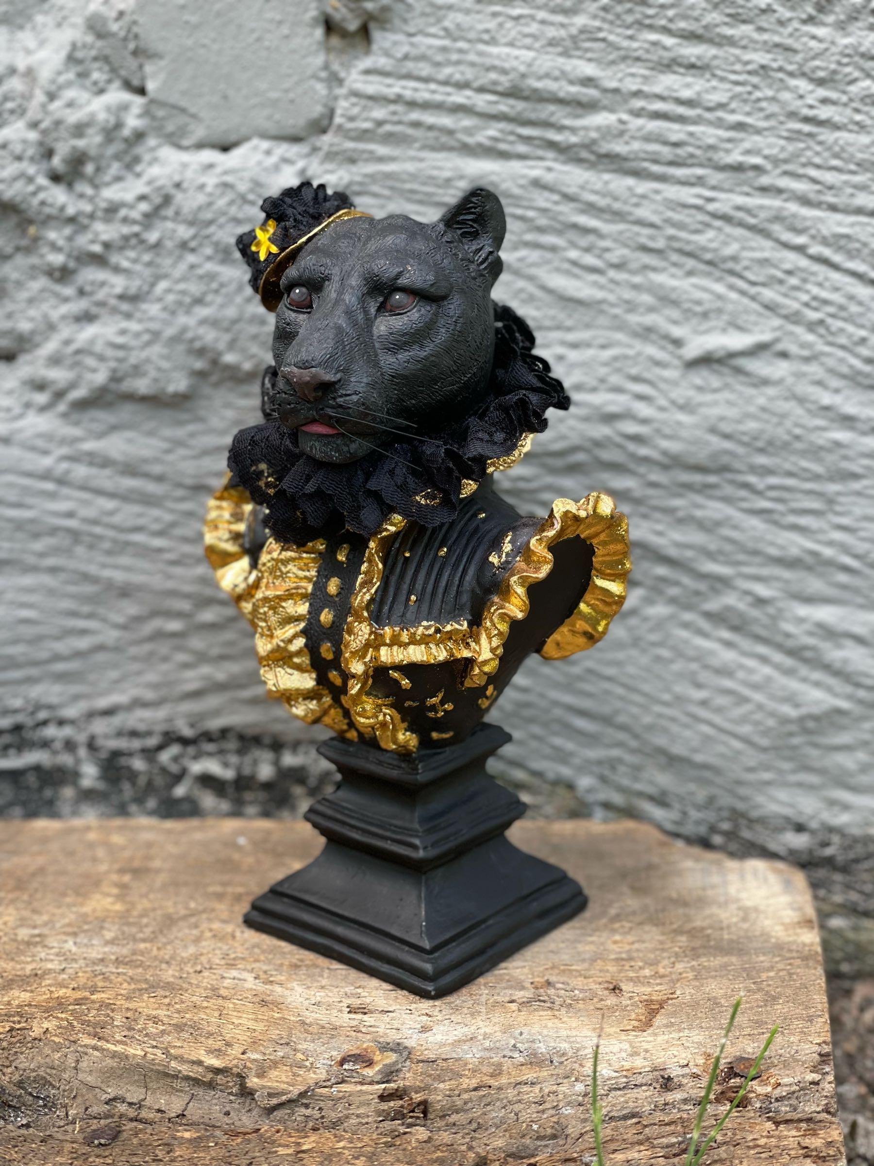 Leopard svart/guld