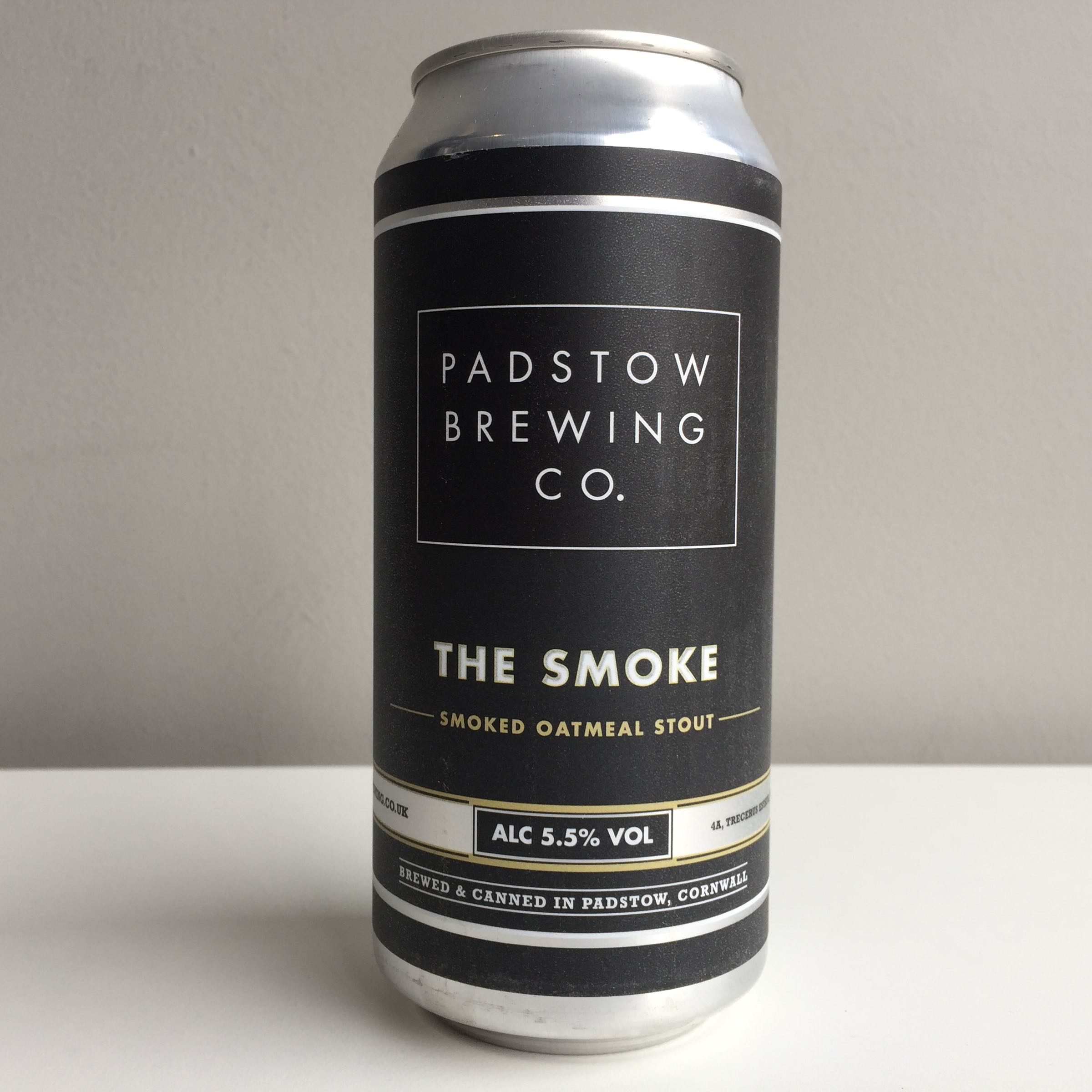 Padstow Brewing Co. 'The Smoke' Smoked Oatmeal Stout 440ml 5.5% ABV