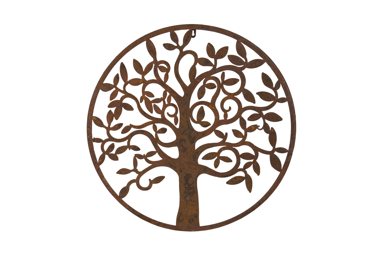 Circular Tree Plaque - Rust