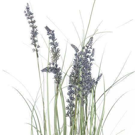 Artificial Potted Lavender Bush