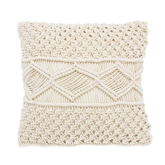 Macrame Diamond Cushion