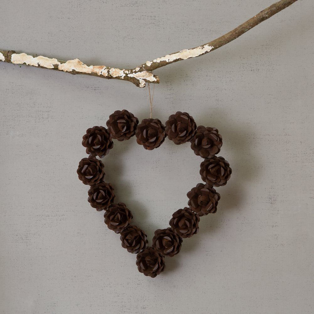 Antique Flower Heart