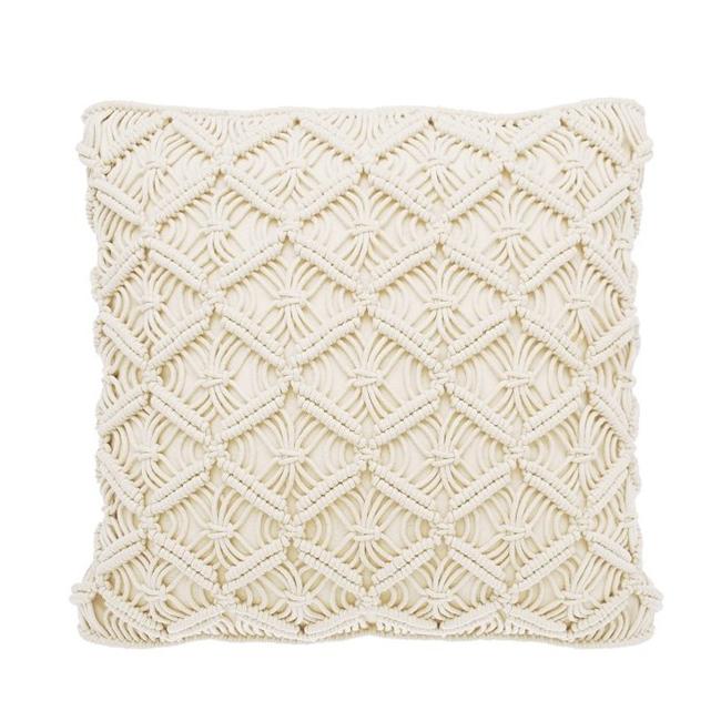 Macrame Trellis Cushion