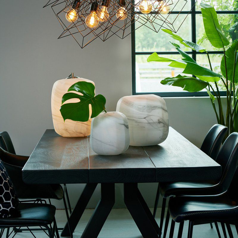 Mortara Wood & Zinc Dining Table